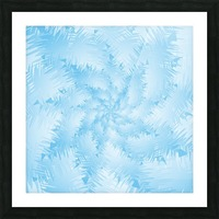 Blue Snowflake Spiral Picture Frame print