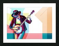 GUITAR MAN Picture Frame print