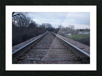 Train Tracks Picture Frame print
