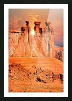 Three Gossips Picture Frame print