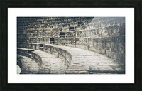 Pompei Amphitheatre stairs Picture Frame print