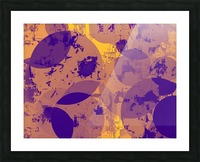 geometric circle pattern abstract in yellow and blue Picture Frame print