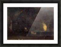 Nocturne, Black and Gold, The Fire Wheel by Whistler Picture Frame print