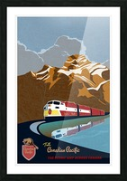 Retro CP rail travel poster Picture Frame print