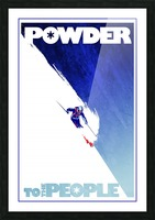 Powder To The People  Picture Frame print