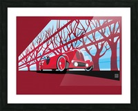 Vintage auto racer Picture Frame print