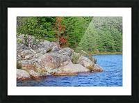 Shawanaga Rock Formation Picture Frame print