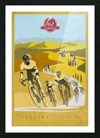 retro Strade Bianche cycling poster Picture Frame print
