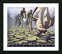 Paris Roubaix retro cycling poster Picture Frame print
