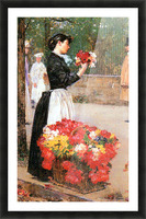 Flower girl by Hassam Picture Frame print