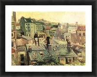 Overlooking the rooftops of Paris by Van Gogh Picture Frame print