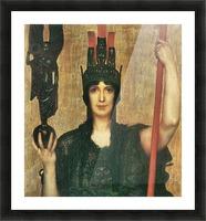 Pallas Athene by Franz von Stuck Picture Frame print