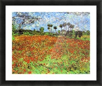 Poppy Fields by Van Gogh Picture Frame print