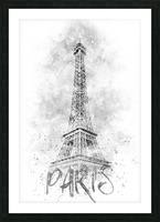 Monochrome Art EIFFEL TOWER | watercolor Picture Frame print