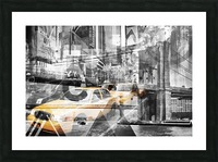 Modern Art NYC Collage Picture Frame print