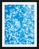 geometric triangle pattern abstract in blue Picture Frame print
