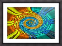 Magic Swirl Picture Frame print