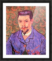 Portrait of Dr. Rey by Van Gogh Picture Frame print