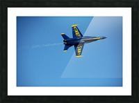 Single USN Blue Angel Flying Picture Frame print