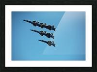 USN Blue Angels Formation Picture Frame print