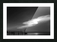 BW Stunning CLoud Sunset Picture Frame print