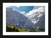 Hut Overlook Picture Frame print