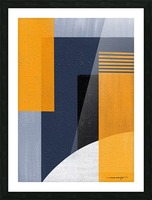 Abstract Geometric Space 1 Picture Frame print