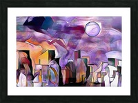 Colorful City Silhouettes Picture Frame print