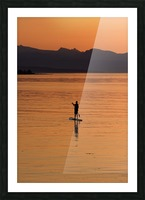 The paddleboarder Picture Frame print