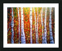 Funky Fall Birch Picture Frame print