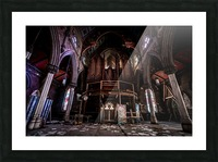 Abandoned Gothic Cathedral Picture Frame print