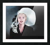 Marilyn with white hat Picture Frame print