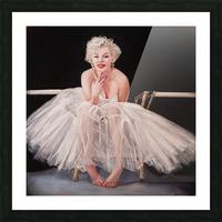Marilyn ballerina sitting  Picture Frame print