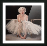 Marilyn in white ballet dress 1 Picture Frame print