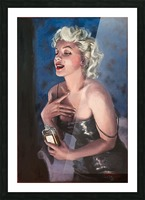 Marilyn in CHANEL 5 oil painting portrait 1 Picture Frame print
