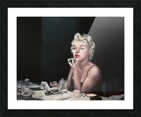 Marilyn backstage  oil painting  portrait 1 Picture Frame print