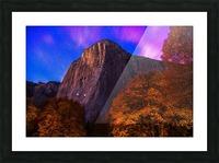 El Capitan Climbers at Night Yosemite National Park Picture Frame print
