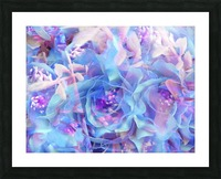 blooming blue rose texture abstract background Picture Frame print