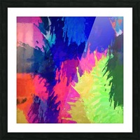 painting texture abstract background in blue pink yellow green Picture Frame print