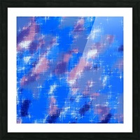 painting texture abstract background in blue pink Picture Frame print