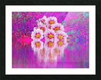 Beautiful colourful flower blossom flower background design floral home decor decoration  Picture Frame print