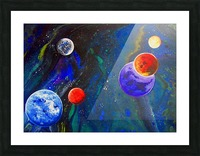 Galactic Neighbours Picture Frame print
