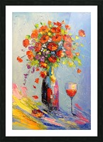 Holiday with a bouquet Picture Frame print