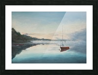 At rest  Au repos   oil painting  waterscape 1 Picture Frame print