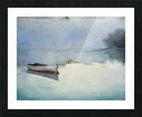 Fog on the lake   Brume sur le lac oil painting waterscape 1 Picture Frame print