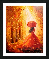 Lady autumn Picture Frame print
