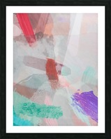 brush painting texture abstract background in red pink purple green Picture Frame print