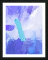 brush painting texture abstract background in blue Picture Frame print