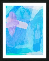 brush painting texture abstract background in blue purple Picture Frame print