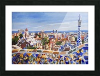 Barcelona Picture Frame print